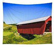 Manchester  Covered Bridge Tapestry