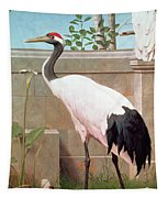 Manchurian Crane, Cockatoo And Robin Tapestry