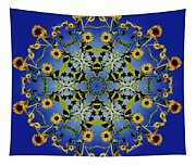Mandala Sunflower Tapestry