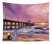Manhattan Beach Pier Tapestry