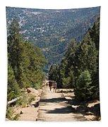 Manitou Springs Pikes Peak Incline Tapestry