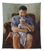 Man's Best Friend Tapestry