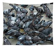 Many Doves At Piazza San Marco Venice Tapestry