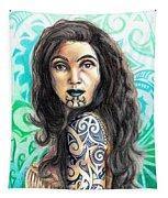 Maori Woman Tapestry