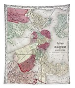 Map: Boston, 1865 Tapestry