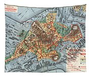 Map: Boston, C1880 Tapestry