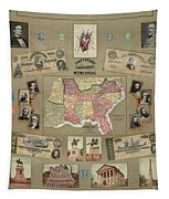 Map: Confederate States Tapestry