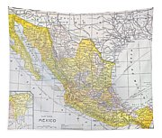 Map: Mexico Tapestry