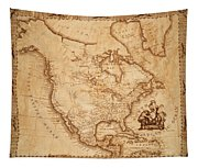 Map Of America 1800 Tapestry
