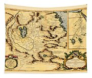 Map Of Africa 1690 Tapestry
