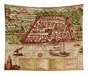 Map Of Algiers 1541 Tapestry