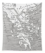 Map Of Ancient Greece Tapestry