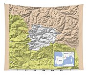 Map Of Andorra Tapestry