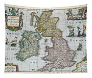 Map Of Britain Tapestry