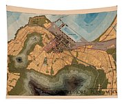 Map Of Cape Town 1947 Tapestry