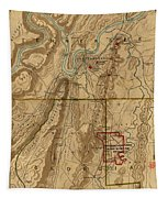 Map Of Chattanooga 1895 Tapestry