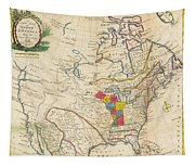 Map Of Colonial North America  Tapestry