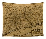 Map Of Connecticut 1797 Tapestry