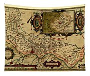Map Of Cremona 1579 Tapestry