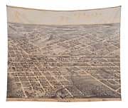 Map Of Dallas 1872 Tapestry
