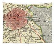 Map Of Dublin Tapestry