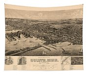 Map Of Duluth 1893 Tapestry