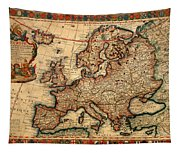 Map Of Europe 1700 Tapestry