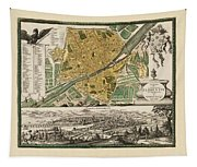 Map Of Florence 1731 Tapestry