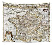 Map Of France, 1627 Tapestry