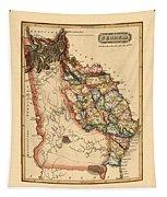 Map Of Georgia 1817 Tapestry