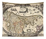 Map Of Holland 1630 Tapestry