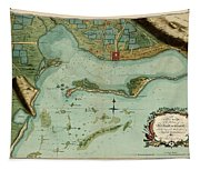 Map Of Jamaica 1756 Tapestry