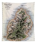 Map Of Mauritius Tapestry