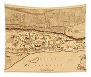 Map Of Montreal 1758 Tapestry