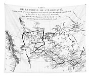 Map Of North America, Plotting The Expeditions Of Sir Alexander Mackenzie In 1789 And 1798 To The Ar Tapestry
