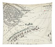 Map Of The Battle Of Copenhagen Tapestry