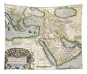Map Of The Middle East From The Sixteenth Century Tapestry