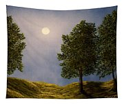 Maples In Moonlight Tapestry