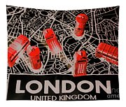 Maps From London Town Tapestry
