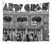Mardi Gras North - Bw Tapestry