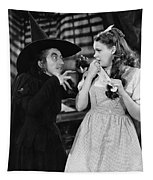 Margaret Hamilton And Judy Garland In The Wizard Of Oz 1939 Tapestry