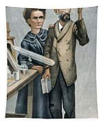 Marie And Pierre Curie Tapestry