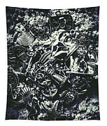 Marine Elemental Abstraction Tapestry