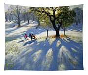 Markeaton Park Early Snow Tapestry
