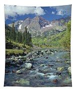 210404-maroon Bells And Creek  Tapestry