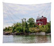 Marquette Harbor Lighthouse Tapestry