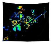 Marshall Tucker Winterland 1975 #14 Enhanced In Cosmicolors Tapestry