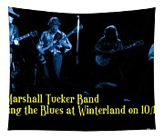 Marshall Tucker Winterland 1975 #18 Enhanced In Blue With Text Tapestry