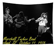 Marshall Tucker Winterland 1975 #37 Crop 2 With Text Tapestry