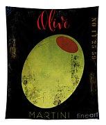 Martini Olive Tapestry